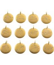 Edblad 31630145-B-PISCES Charmentity piscis Matt Chapado en oro del zodiaco