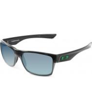 Oakley Oo9189-04 Twoface pulido negro - las gafas de sol de jade de iridio