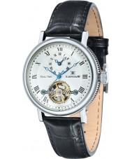 Thomas Earnshaw ES-8047-02 Mens Beaufort reloj correa de cuero negro de barro