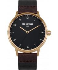 Ben Sherman WB049BRG Mens portobello patrimonio reloj de correa de color marrón oscuro y negro