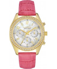 Caravelle New York 44L169 Damas blanco melissa reloj cronógrafo de color rosa