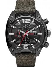Diesel DZ4373 Mens desbordamiento ip negro reloj correa de tela cronógrafo