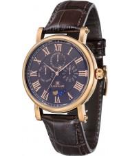 Thomas Earnshaw ES-8031-04 Maskelyne para hombre reloj de la correa de cuero marrón de barro