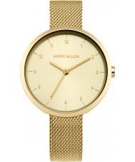Karen Millen KM135GM Chapado en oro de las señoras reloj pulsera