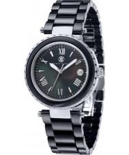 Klaus Kobec KK-10005-04 Damas de acero venus y reloj de cerámica negro