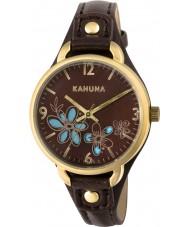 Kahuna KLS-0308L Señoras del reloj de la correa marrón de la PU