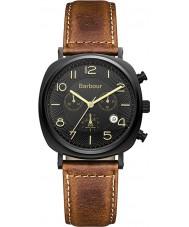 Barbour BB019BKTN Para hombre reloj cronógrafo de cuero marrón de baliza