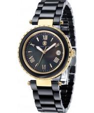 Klaus Kobec KK-10005-05 oro señoras de venus y reloj de cerámica negro