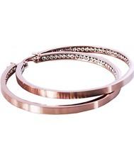 Edblad 78902 Señoras Mónaco chapado en oro rosa con grandes pendientes cz