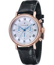 Thomas Earnshaw ES-8051-02 Para hombre reloj cronógrafo Beaufort correa de cuero negro