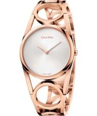 Calvin Klein K5U2S646 Señoras de oro rosa reloj plateado