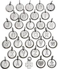 Edblad 116130237-H Charmentity h de acero de plata pequeño colgante