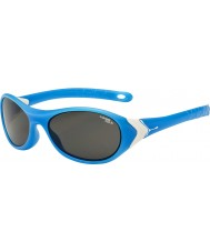 Cebe Cricket (3-5 años) mate blanco cian 1500 gafas de sol grises de luz azul