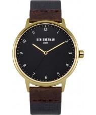Ben Sherman WB049UG reloj azul y marrón de la correa para hombre del patrimonio portobello