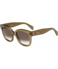 Celine Damas cl 41805-s qp4 z3 gafas de sol verdes militares