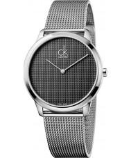 Calvin Klein K3M2112X Reloj para hombre de malla de plata mínimo
