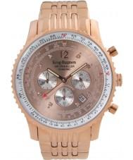 Krug-Baumen 600603DS reloj de diamantes viajero aéreo para hombre