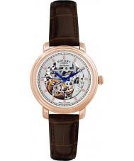 Rotary GS90505-06 Para hombre originales les jura esqueleto automática reloj de oro rosa