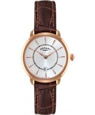 Rotary LS02919-03 Relojes de reloj correa de cuero marrón Elise