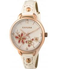 Kahuna KLS-0312L Damas blanco reloj de la correa de la PU