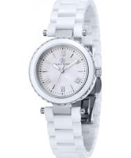 Klaus Kobec KK-10006-01 Damas de acero venus y el reloj de cerámica blanca