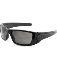 Oakley Oo9096-01 pila de combustible pulido negro - las gafas de sol de color gris cálido