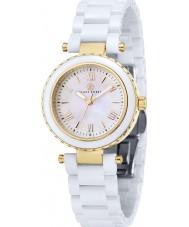 Klaus Kobec KK-10006-02 oro señoras de venus y el reloj de cerámica blanca