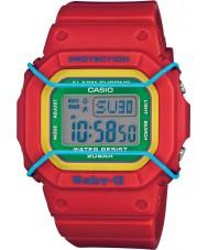Casio BGD-501-4BER Señoras baby-g de resina de color rojo reloj de tiempo del mundo