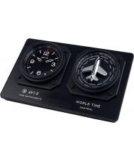 AVI-8 AV-CLOCK-01 Mens avi-8 GMT reloj negro