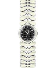 Orla Kiely OK4028 Señoras de laurel blanco de acero reloj pulsera