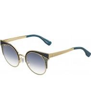Jimmy Choo Damas PSX U3 oro Ora-s militares gafas de sol verdes