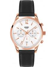 Henry London HL39-CS-0036 blanco reloj cronógrafo negro Richmond