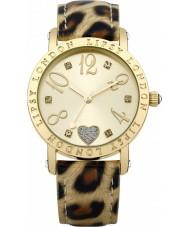 Lipsy LP124 Señoras de oro y reloj animal print