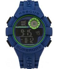 Superdry SYG193U reloj de la correa de silicona azul digital de radar para hombre