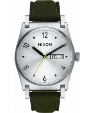 Nixon A955-2232 Las señoras Jane excedente de plata reloj de cuero