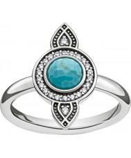 Thomas Sabo TR2090-646-17-54 Señoras de la plata del anillo atrapasueños etno - tamaño o (UE 54)