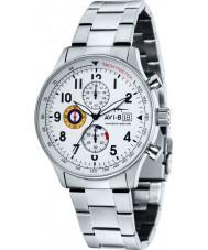 AVI-8 AV-4011-11 Mens huracán del vendedor ambulante de acero de plata reloj cronógrafo
