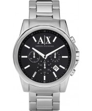 Armani Exchange AX2084 reloj cronógrafo vestido negro de plata de los hombres