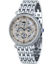 Thomas Earnshaw ES-8043-33 Reloj para hombre pulsera de acero de plata gran calendario