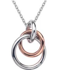 Hot Diamonds DP373 Las señoras de plata eternidad y rosa colgante de oro vermeil