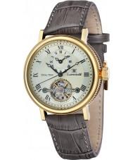 Thomas Earnshaw ES-8047-03 Mens Beaufort reloj correa de cuero marrón de barro