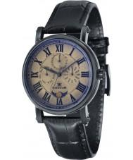 Thomas Earnshaw ES-8031-05 Maskelyne para hombre reloj de la correa de cuero de barro negro