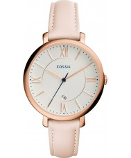 Fossil ES3988 reloj de la correa de cuero ligero rubor Jacqueline damas