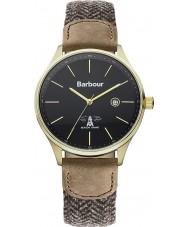 Barbour BB021GDHB Mens glysdale reloj correa de tela de dos tonos