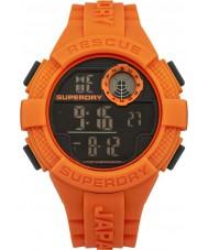 Superdry SYG193O reloj de la correa de silicona naranja digital de radar para hombre