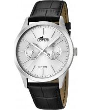 Lotus 15956-1 Para hombre blanco negro reloj multifunción