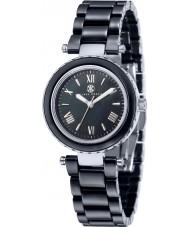 Klaus Kobec KK-10006-04 Damas de acero venus y reloj de cerámica negro