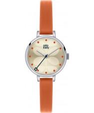 Orla Kiely OK2013 Señoras de hiedra reloj correa de piel de naranja