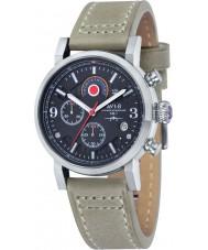 AVI-8 AV-4041-02 Para hombre reloj cronógrafo correa de cuero de piedra Hawker Hurricane
