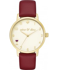 Kate Spade New York KSW1188 reloj de la correa de cuero burdeos metro damas
